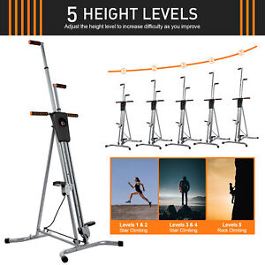 Foldable Vertical Climber Home Gym Workout Climbing Equipment Exercise Machine