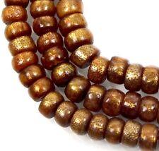 "7x4mm Natural Golden Sponge CORAL Rondelle Beads 16"""