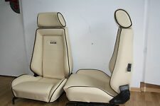 Recaro Leather Seats for Beetle Memmingen Opel Manta Ford Capri Leather NEW