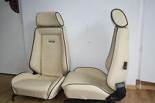 Recaro asientos de piel para escarabajo Memminger Opel Manta Ford Capri cuero nuevo