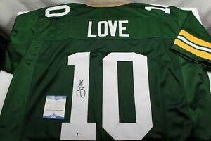 JORDAN LOVE Signed Green Bay Packers Custom Green Jersey BAS Beckett Witness COA