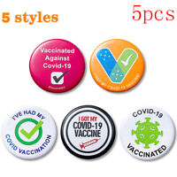 5 PCS Vaccinated Enamel Lapel Pins Badge I Got My Vaccine Buttons Pinback Pin