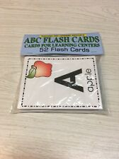 ABC FLASH CARD - Cards for Learning Center 52 Cards Teaching supplies homeschool