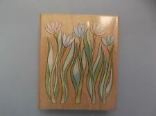 INKADINKADO RUBBER STAMPS TALL WHIMSICAL FLOWERS NEW STAMP