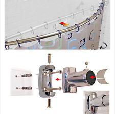 110cm - 200cm allungabile Curvo Doccia BINARIO PER TENDA CROMATO BAGNO telescopico POLE