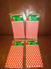2015 Christmas Party Red and White Tissue Paper Set of 40 Sheets