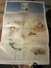 Vintage U.S. Post Office Poster #452 Save the Habitat 1980 - Follot