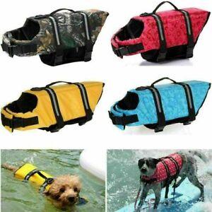 Pet Dog Life Jacket Swimming Float Vest Reflective Buoyancy Sailing Aid 2XS-L