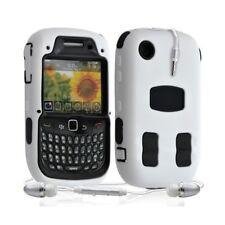 Housse étui coque rigide pour BlackBerry Curve 3G 9300 couleur blanc + Kit Piéto