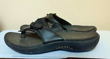 Merrell Black Leather Slides Sandals 7 M