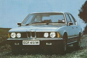 1980 NEW BMW 732I NEW CAR VINTAGE BMW ADVERT & DEALER LIST