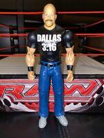 RARE WWE Mattel figure WRESTLEMANIA STONE COLD STEVE AUSTIN 316 DALLAS Wrestling