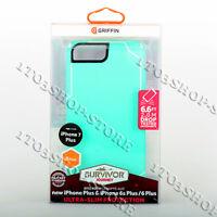 Griffin Survivor Journey iPhone 7 Plus 8 Plus iPhone 6 Plus Case Teal Blue/White