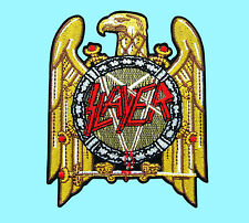 SLAYER Golden Eagle Heavy Metal Thrash Rock Music Embroidered Easy Iron On Patch