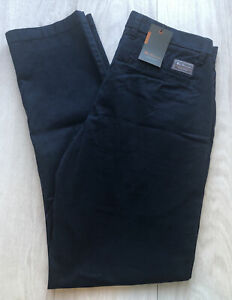 Ben Sherman Stretch Slim Fit Chinos Navy Mens Size 34W 32L BNWT RRP £65