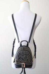 MICHAEL MICHAEL KORS Rhea Mini Rose Studded Leather Backpack Style # 30H8GEZB1O