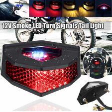 Universal 12V LED Motorcycle Turn Signal Tail Light Cafe Racer Fender Edge Brake