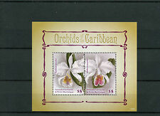 Grenadines of Grenada 2014 MNH Orchids of Caribbean 2v S/S Flowers Flora
