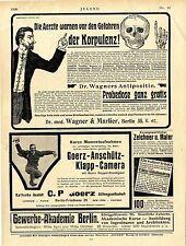 Dr.Wagners Antipositin (weil Korpulente selten ein hohes Alter erreichen)Ad 1906