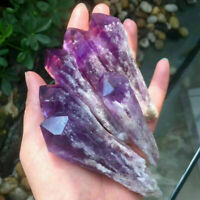 1Pc Natural Amethyst Quartz Cluster Crystal Wand Point Specimen Healing
