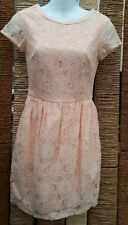 H&M CONSCIOUS BNWT Ladies Pink Lace Short Sleeve Dress Size 8 RRP £24.99