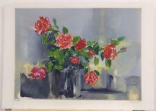 """Louis Travert, """"Les Roses,"""" Lithograph"""