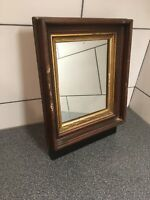 "Genuine Antique Mahogany Wood Gold Gilded Frame With Free Mirror 14x12"" Lot#927"