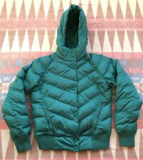 Fox Racing Sallye Puffy Puffer Puff Hooded Jacket Emerald Green Women's Size S