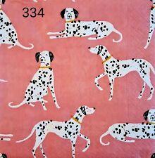 20x Single table Paper Napkins,Decoupage/Dining/Craft/Vintage/Dalmatians