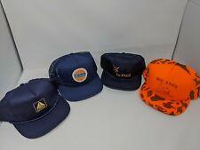 Vintage Snapback Hat Lot. Bobcat Citgo Beacon mid state contractors blue orange