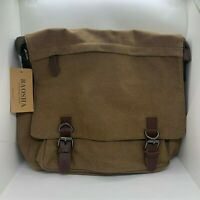 BAOSHA MS-08 Vintage Men's Coffee Canvas Crossbody Messenger Bag