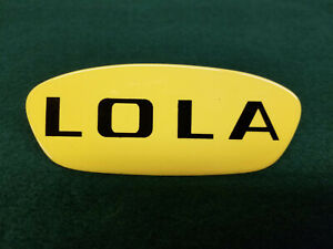 LOLA Scaglietti Race Car Hood Badge Emblem
