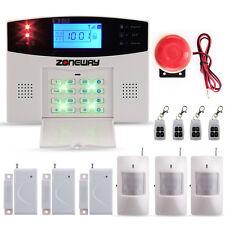 Wireless Alarm System LCD GSM SMS Autodial Sensor Call IR Detector Home Security