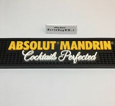 "ABSOLUTE Mandrin Vodka BAR MAT Rubber - Large 20.5'' x 3.5"" Pub Spill Drink Well"