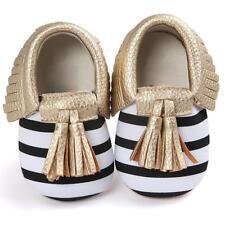 Newborn Baby Kids Girl Boy Tassels Soft Crib Sole Sneakers Casual Antiskid Shoes