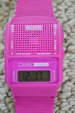 Talking Alarm Novelty Pink Gift Watch Speaks Time In Japanese Digital LCD NWT