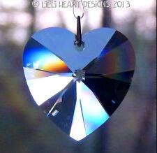 m/w Swarovski Crystal 40mm Large Sapphire Heart Sun Catcher Lilli Heart Designs