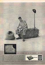 PUBLICITE ADVERTISING  1958   LU  petit beurre