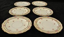 6 Cauldon China for Burley Co Tiny Rose Swag Pattern Liner? / Luncheon Plates?
