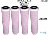 """REVERSE OSMOSIS RO 10"""" CARBON BLOCK WATER FILTERS X 4"""