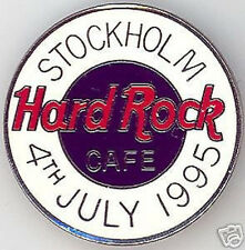 Hard Rock Cafe STOCKHOLM 1995 July 4th F.C. Parry Round Logo PIN