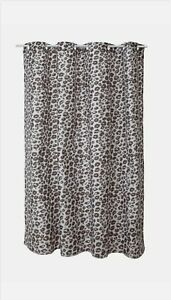 Shower Curtain 180cm x 180cm Metallic Leopard Print Brand New