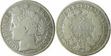 III°  REPUBLIQUE  ,   2  FRANCS  CERES   ARGENT  ,   1873  A  PARIS