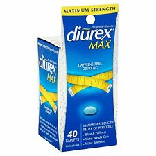 Diurex Max Maximum Strength DIURETIC Relief of BLOAT PUFFINESS WATER WEIGHT GAIN