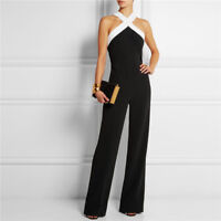 Women Sexy Off Shoulder Long Jumpsuit Summer Sleeveless Party Casual Playsuit