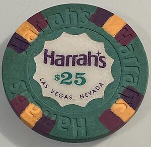 HARRAHS $25 Casino Chips Las Vegas Nevada 3.99 Shipping
