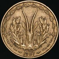 1957 | French West Africa 10 Francs | Aluminium-Bronze | Coins | KM Coins