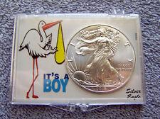 2018 American Eagle Silver Dollar & It's a Boy Case #2