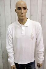 RALPH LAUREN Uomo Taglia L Polo Cotone T-Shirt Casual Maglietta Manica Lunga