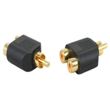 RCA Y Splitter AV Audio Video Plug Converter Two Male to Female Cable Adapter Fc